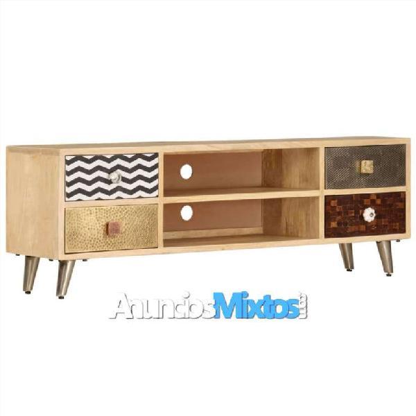 Mueble para la tv 120x30x40 cm madera de mango mac