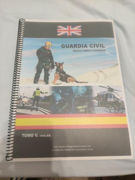 Libro inglés temario guardia civil 19/20