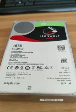 Disco duro interno seagate ironwolf, 10 tb, nas