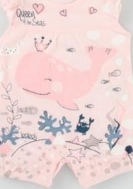 Pelele punto talla 1 mes boboli rosa