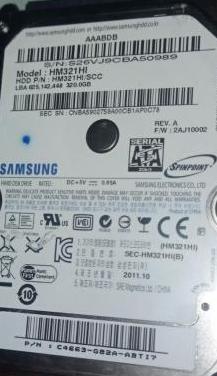 Disco duro de 320gb sata 2 de portatil