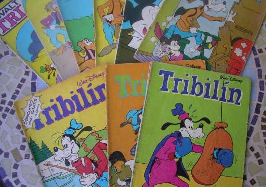 lote 9 comics tribilin. edicol.1981