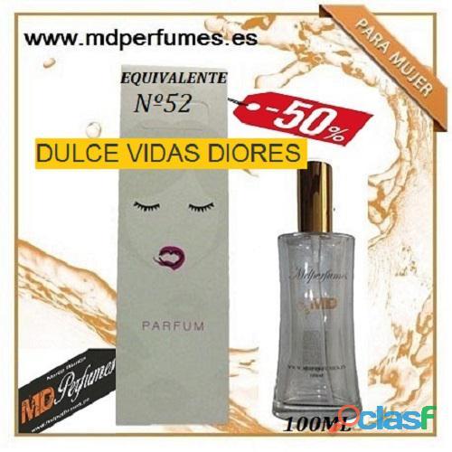Oferta Perfume Mujer Nº52 DULCE VIDAS DIORES Alta Gama 100ml 10€