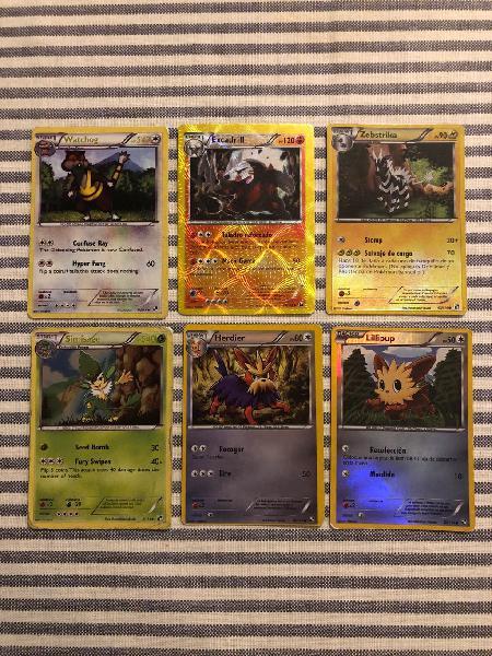 Cartas pokemon varias ediciones