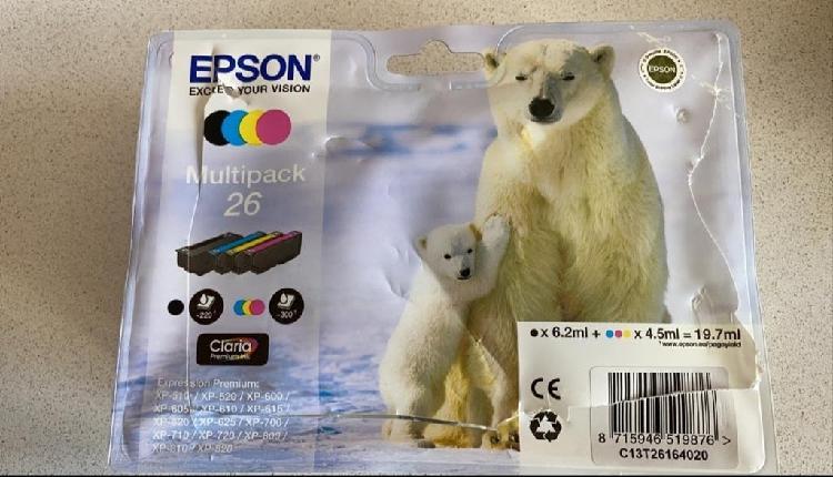 Cartuchos tinta epson multipack 26
