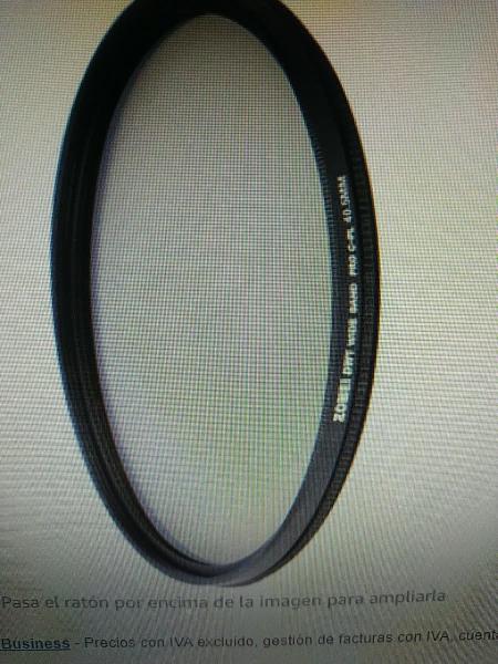 Filtro ultra delgado polarizador de 40.5 mm