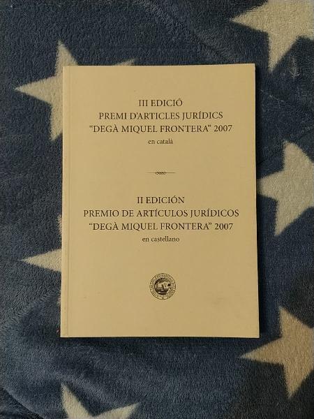Ii y iii edición premios de art.jurídicos 2007