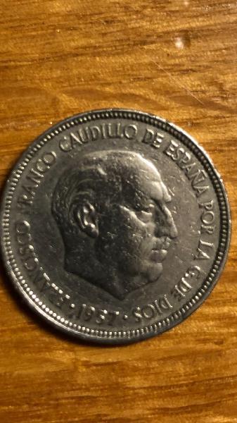 Moneda de 5 pesetas franco