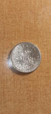 Francia 12 franco moneda de 1976 medio