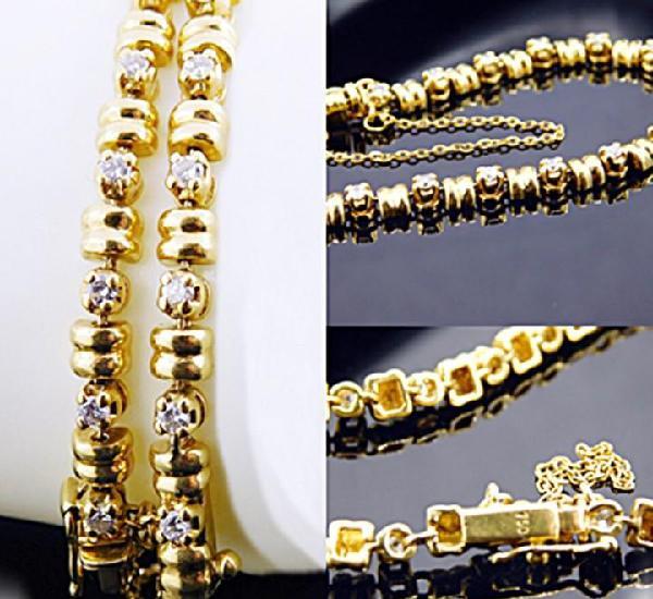 Joya: oro 18k & diamantes - magnifica pulsera riviere con 27
