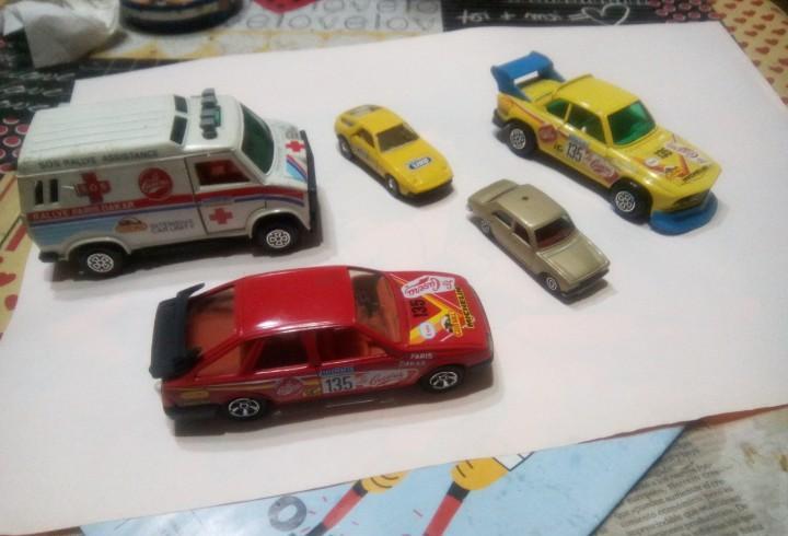Lote 5 coches miniatura guisval la casera siro