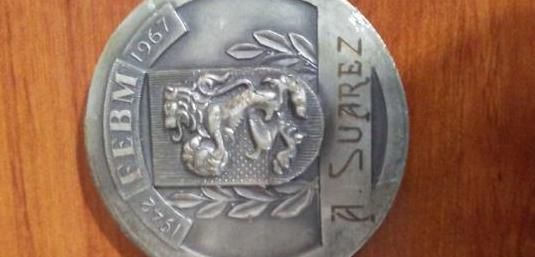 Medalla conmemorativa febm antigua 25 aniversario