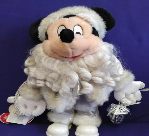 Muñeco mickey mouse navideño,con musica y movimiento de 36