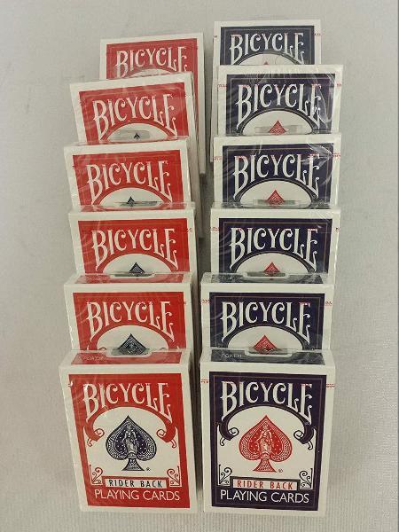 Caja de 12 unidades barajas bicycle rider back