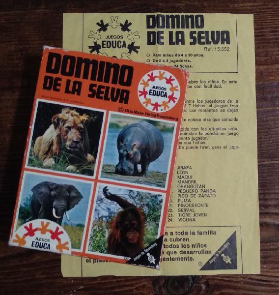 Juego dominó de la selva 1969