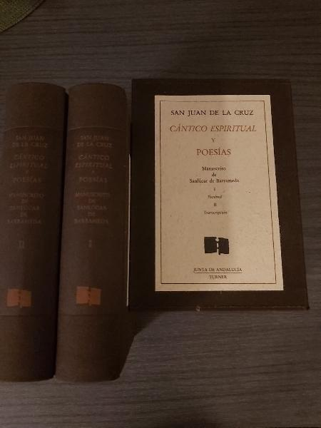 """Libro """"cántico espiritual y poesías"""". 2 tomos"""