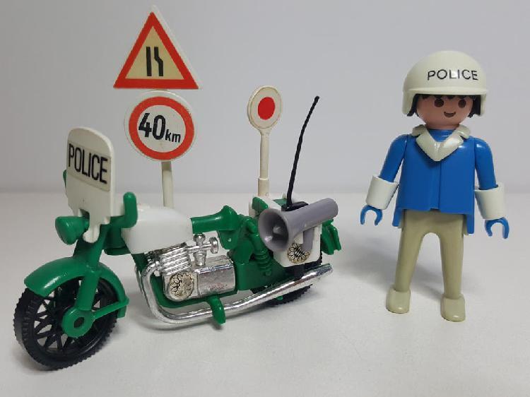 Policia motorista antiguo playmobil 3572 moto