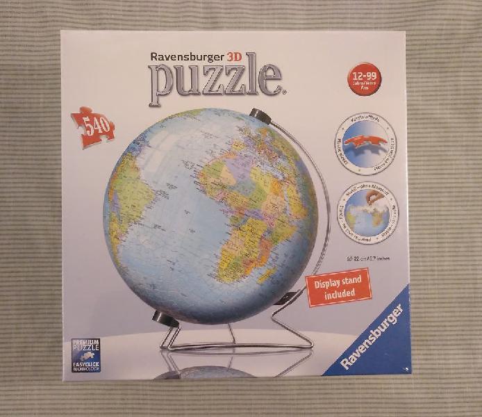 "Puzzle ravensburger 3d, ""globo tierra"", 540 piezas"