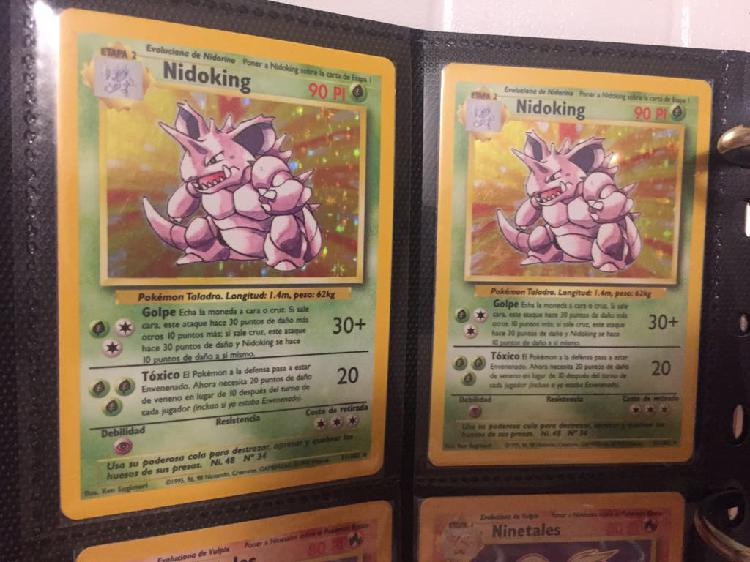 Carta pokemon base set nidoking nº 11