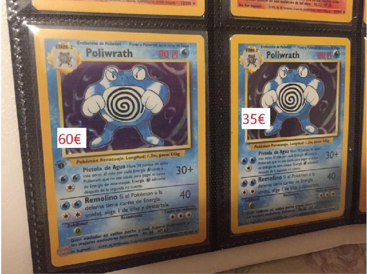 Carta pokemon base set poliwrath nº13