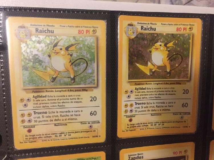 Carta pokemon base set raichu nº14