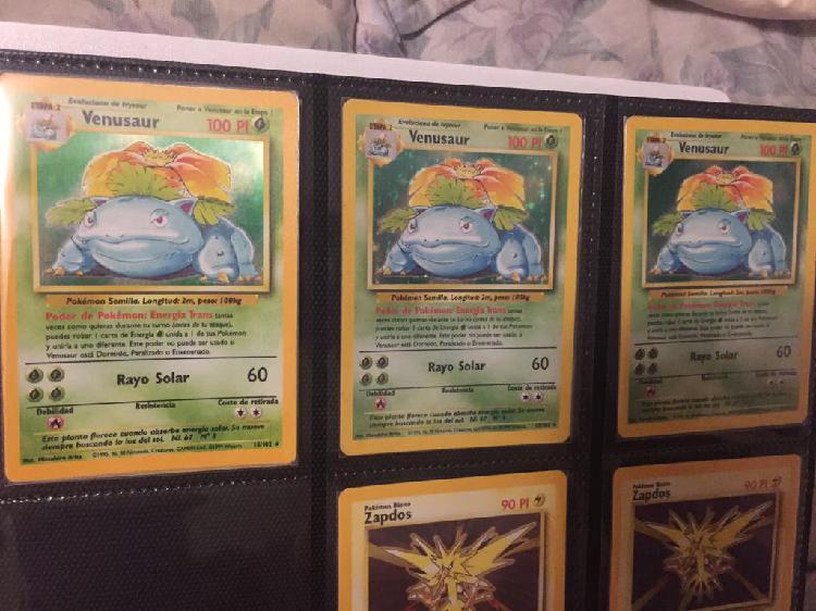Carta pokemon base set venusaur nº15