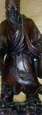 Antigua talla en madera de palo rosa