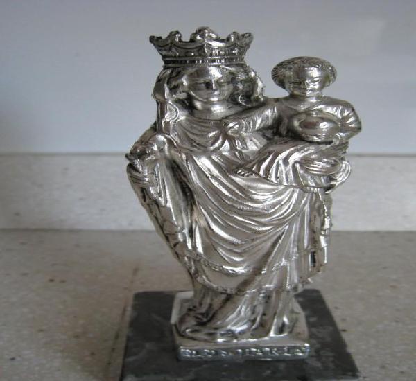 Antigua virgen maciza notre dame de paris bañada en plata