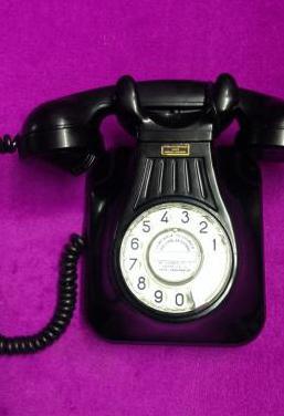 Antiguo telefono pared baquelita 5522a