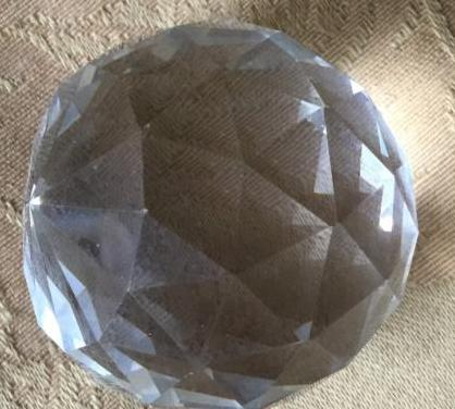 Bola cristal roca tallada para lampara