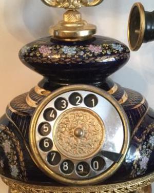 Curioso teléfono porcelana telgafon