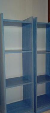 Estanterías de madera azules