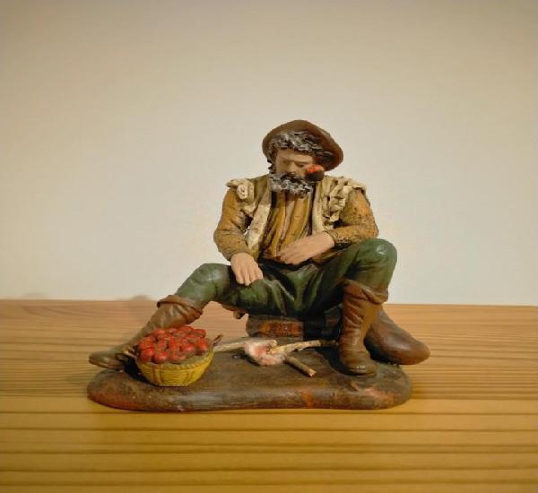 Exclusiva y gran figura pastor ortigas belén pesebre