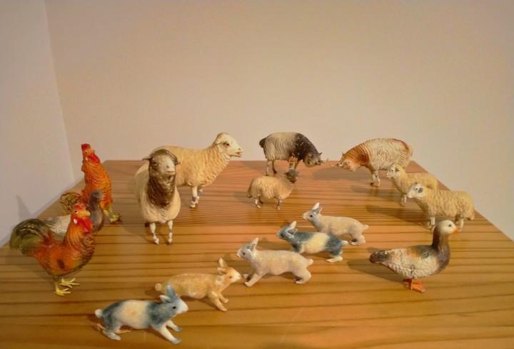 Exclusivas figuras animales ortigas belén pesebre