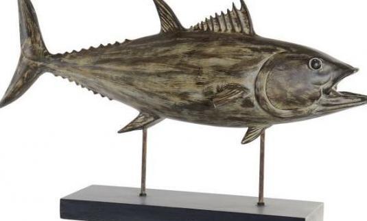 Figura resina pez envejecido