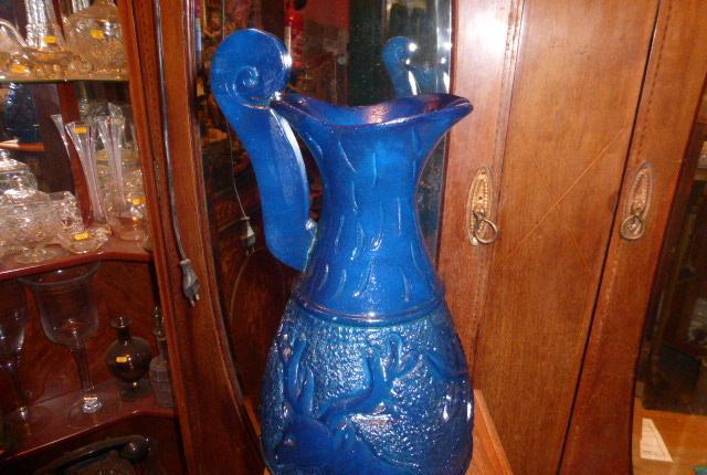 Jarra de onix en color azul