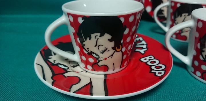 Juego de tazas de café muñeca betty boop