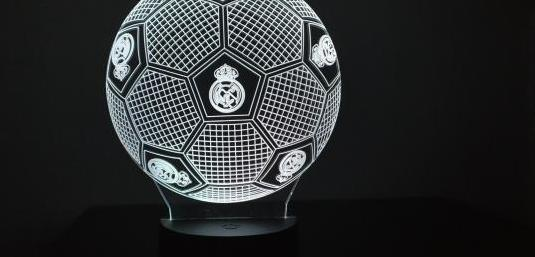 Lampara led 3d nueva real madrid luces colores