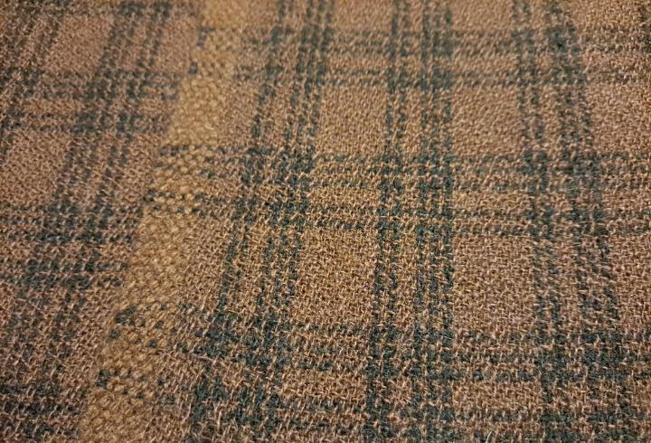 Paño de lana marron antiguo