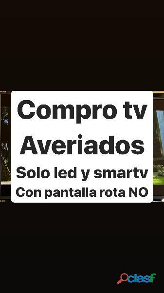 Compro televisor averiado