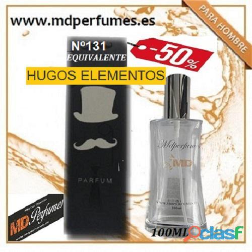 Oferta Perfume Hombre Nº131 HUGOS ELEMENTOS alta Gama 100ml 6