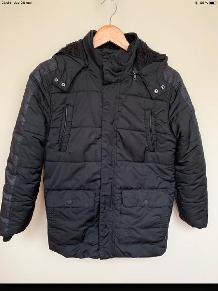 Abrigo negro y gris mayoral