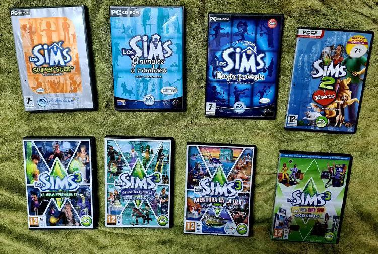 Pack 8 juegos de los sims para pc!