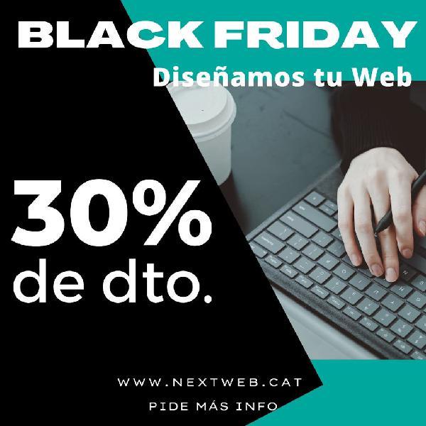 Promoción black friday en tu página web