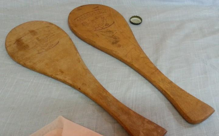 Raquetas de madera. estilo vintage.