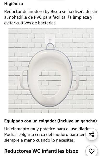 Adaptador wc libre portátil. nuevo sin estrenar.