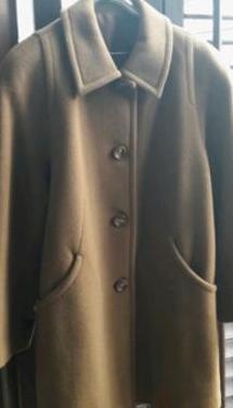 Abrigo de lana - color marrón tostado
