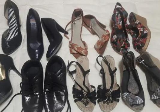 Lote de 7 pares de zapatos t-38
