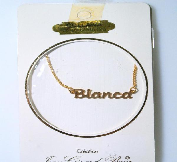 "Collar dorado al oro fino ""bianca"", diseño jean gérad"