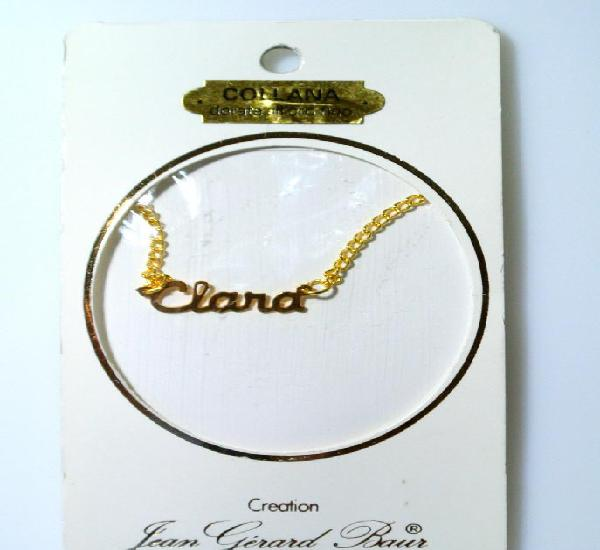 """Collar dorado al oro fino """"clara"""", diseño jean gérad"""